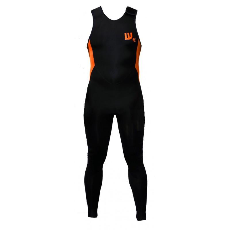 Longjohn combinaison surf Neoprene Black / Neon