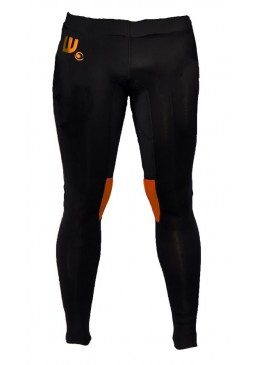 Pantalon neoprene 2 mm homme noir et orange