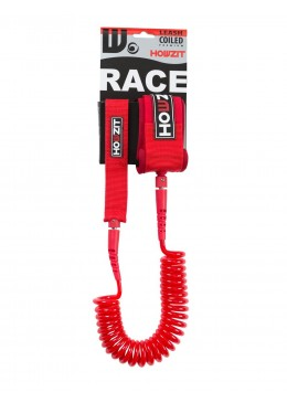 Stand-up paddle 9' red coiled leash