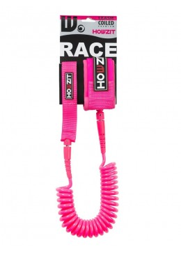 Stand-up paddle 9' pink coiled leash