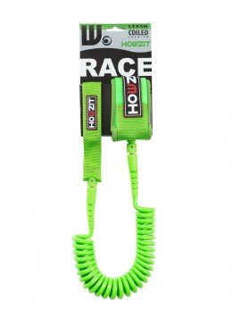 Stand-up paddle 9' lime coiled leash