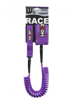 Stand-up paddle 9' purple coiled leash