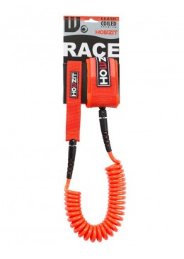 Stand-up paddle 9' orange coiled leash