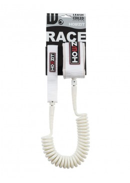 Stand-up paddle 9' white coiled leash