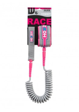 Stand-up paddle 9' silver pink coiled leash