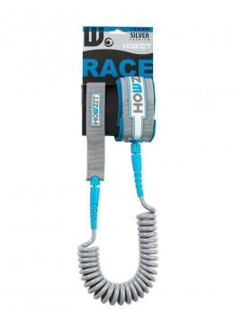 Stand-up paddle 9' silver aqua coiled leash