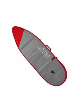 Housse gris et rouge pour surf funboard 7'