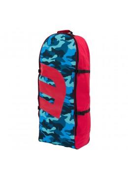 Sac de transport camo et rouge à roulettes pour paddle gonflable ou kite surf