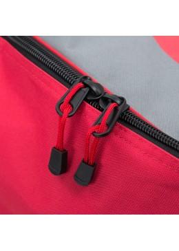 Sac de transport gris et rouge à roulettes pour paddle gonflable ou kite surf