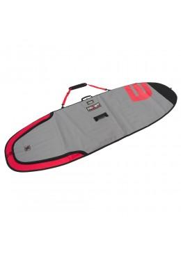 Housse de transport motif gris et rouge pour stand-up paddle 9'