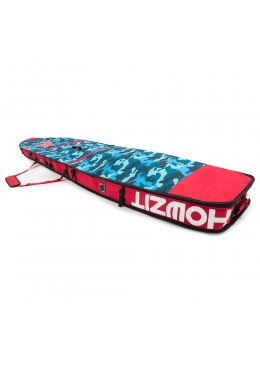 Housse de transport motif camouflage et rouge pour stand-up paddle race 12'6