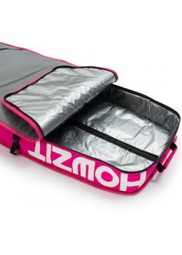 Housse de transport motif gris et rose pour stand-up paddle race 12'6