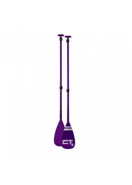 Pagaie de stand up paddle color vario 3 parties démontables - purple