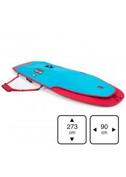 Housse de transport motif bleu et rouge pour stand-up paddle 8'6