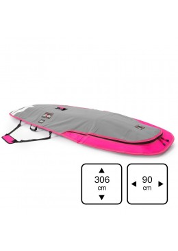 Housse de transport motif gris et rose pour stand-up paddle 9'6