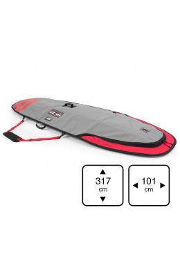 Housse de transport motif gris et rouge pour stand-up paddle 10' xl