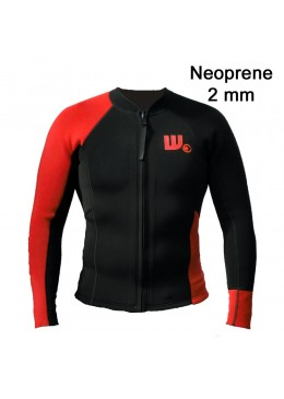 Veste surf Neoprene Homme Black / Red