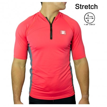 Lycra surf zip Homme Red