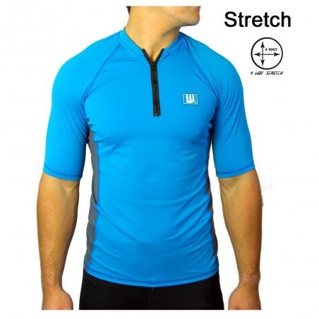 Lycra surf zip Homme Bleu