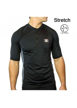 Lycra zip Homme Black