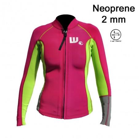 Veste SUP Néoprene Femme Pink / Lime