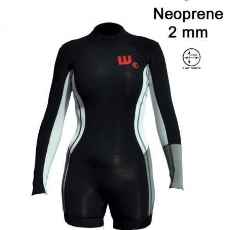 Shortie Neoprene Femme Black / White