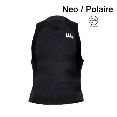 Veste Neoprene Homme Black / Aqua