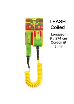 Stand-up paddle 9' hawaii coiled leash