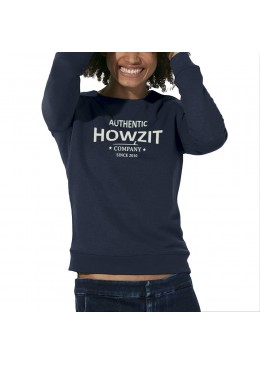 "Sweat Shirt Navy ""Howzit Co"" Femme"