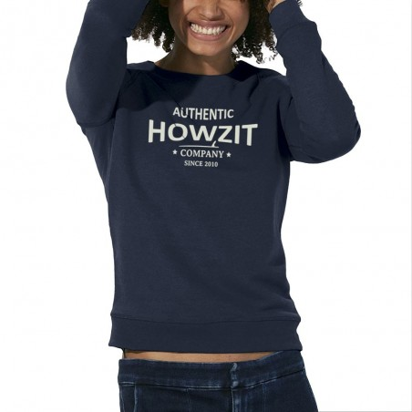 "Sweat Shirt Navy ""Howzit Co"" Femme"