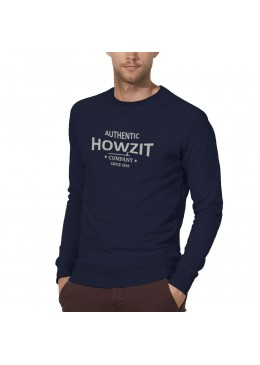 "Sweat Shirt Navy ""Howzit Co"" Homme"