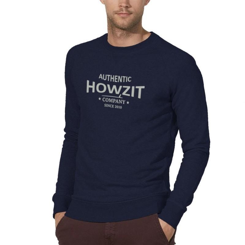 "Sweat Shirt Navy ""Howzit Co"" Homme"