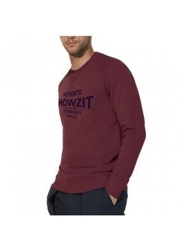 """Sweat Shirt Bordeaux """"Howzit Co"""" Homme"""