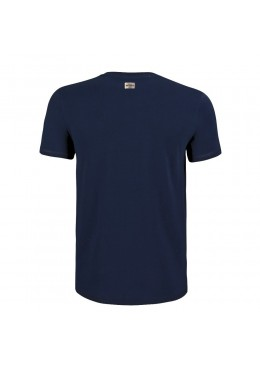 "Tee Shirt Crew Neck Navy ""Howzit Co"" Men"
