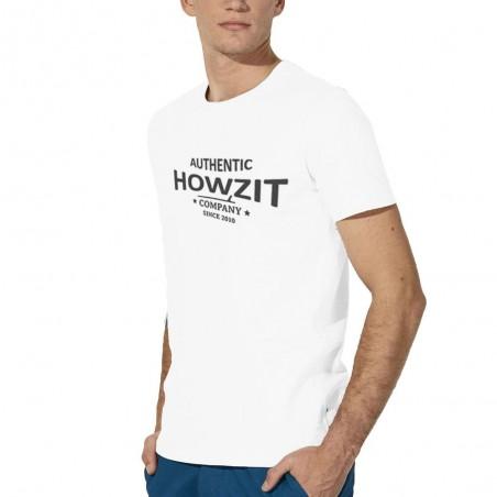 "Tee Shirt White ""Howzit Co"" Homme"