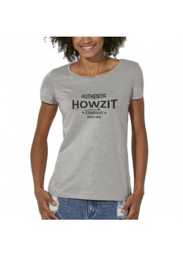 "Tee Shirt Crew Neck Grey ""Howzit Co"" Women"