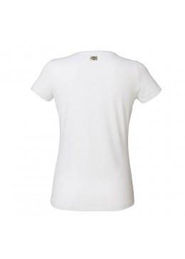 """Tee Shirt V Neck White """"Howzit Co"""" Women"""