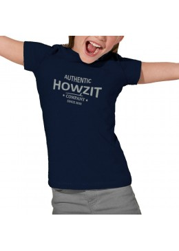 "Tee Shirt Navy ""Howzit Co"" Fille"