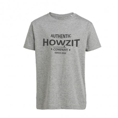 "Tee Shirt Grey ""Howzit Co"" Fille"