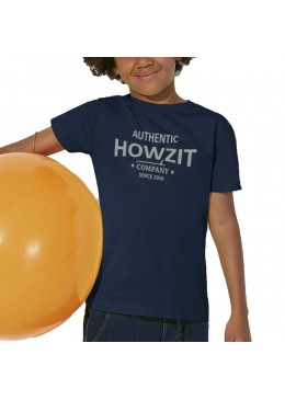 "Tee Shirt Navy ""Howzit Co"" Garçon"