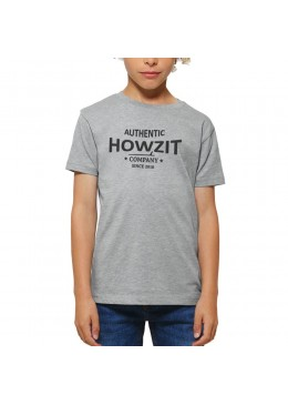 "Tee Shirt Grey ""Howzit Co"" Garçon"