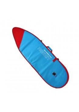 Housse bleu et rouge pour surf shortboard 6'4