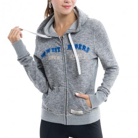 Hoodie's  Sweatshirt - Grey - Woman
