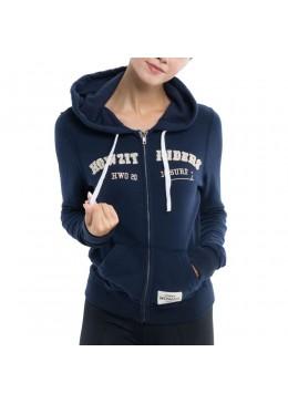 Hoodie's  Sweatshirt - Navy - Woman