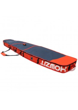 Housse de transport motif navy et orange pour stand-up paddle race 12'6 XL