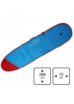 "Boardbag for longboard surf Mini Malibu surf 9'0"" blue"