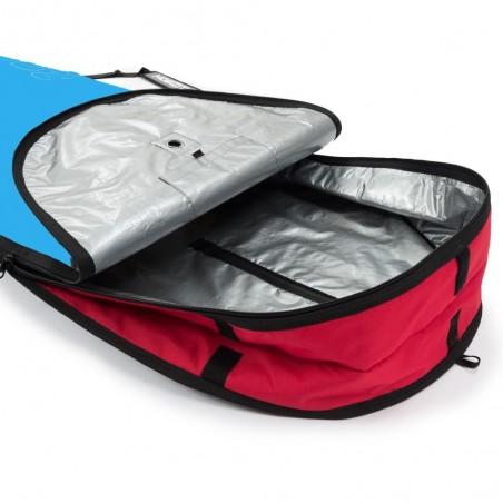 Housse bleu et rouge pour surf longboard 9'0