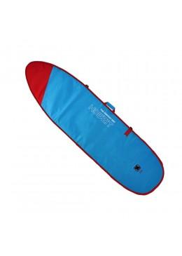 Housse bleu et rouge pour surf longboard 9'2
