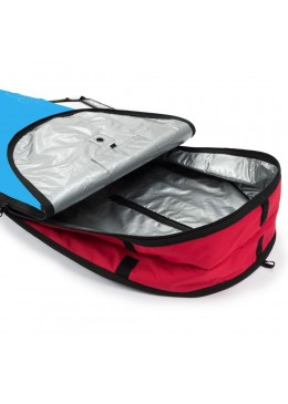 Housse bleu et rouge pour surf longboard 9'6
