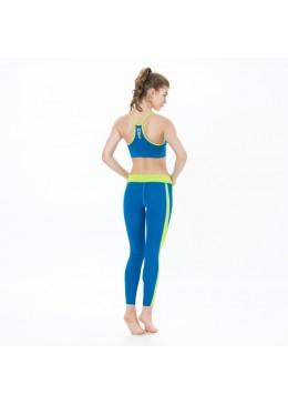 legging en lycra saphir pour la pratique du fitness, yoga, surf et paddle